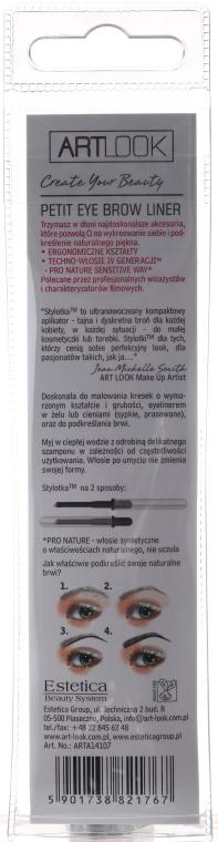 Кисть для бровей скошенная - Art Look Eye Brow Liner  — фото N2