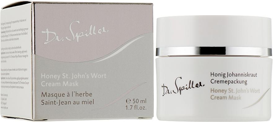 Увлажняющая и успокаивающая крем-маска с маслом зверобоя - Dr. Spiller Honey St.John's Wort Cream Mask — фото N2