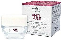 Parfumuri și produse cosmetice Cremă-ser pentru față și pielea din zona ochilor - Farmona Anti-AGE Glycation Fibro-Rebuilding Serum In Cream For Face & Under Eye
