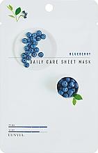 Parfumuri și produse cosmetice Mască de țesut antirid cu afine - Eunyul Daily Care Mask Sheet Blueberry