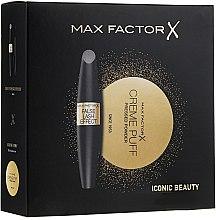 Parfumuri și produse cosmetice Set - Max Factor ( maskara/13ml+puder/21g)
