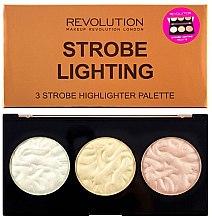 Parfumuri și produse cosmetice Paletă iluminatoare pentru față - Makeup Revolution 3 Strobe Highlighter Palette
