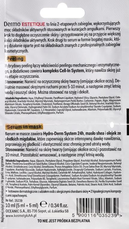 "Set de fiole "" Hidratante"" - AA Cosmetics Dermo Estetique (peeling/5ml + ser/5ml) — Imagine N2"