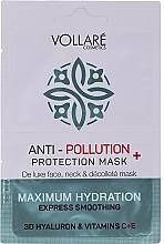 """Parfumuri și produse cosmetice Mască de față """"Acid hialuronic hidratant + vitaminele C și E"""" - Vollare Anti-Pollution Protection Mask"""