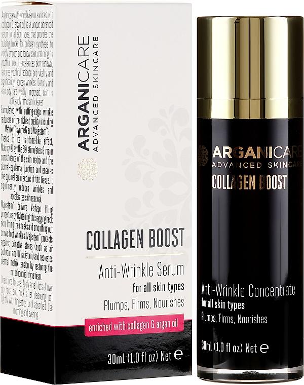 Ser antirid pentru față - Arganicare Collagen Boost Anti-Wrinkle Serum — Imagine N1