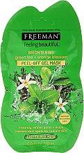 """Parfumuri și produse cosmetice Mască pentru față """"Ceai verde și floare de portocal"""" - Freeman Feeling Beautiful Brightening Green Tea+Ornge Blossom Peel-Off Gel Mask (Mini)"""
