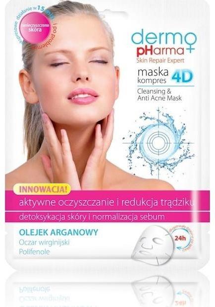 "Mască de față ""Tratament activ și reducerea acneei"" - Dermo Pharma Skin Repair Expert Cleansing Anti Acne Mask 4D — Imagine N1"