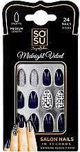 Parfumuri și produse cosmetice Set de unghii false - Sosu by SJ False Nails Medium Stiletto Midnight Velvet