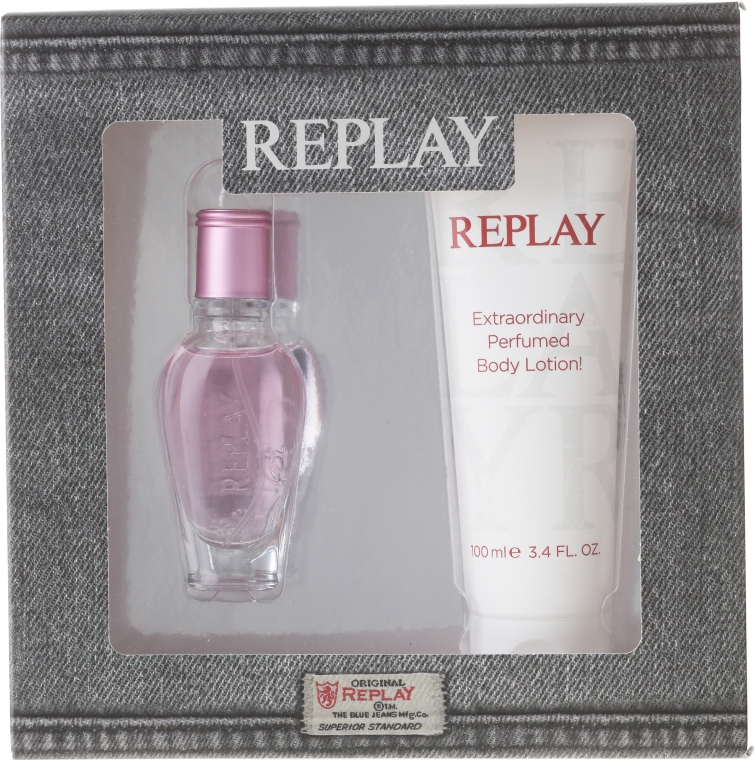 Replay Jeans Spirit! For Her - Set (edt/20ml + b/lot/100ml)  — Imagine N1