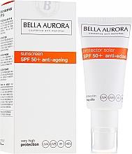 Parfumuri și produse cosmetice Cremă cu protecție solară pentru față - Bella Aurora Solar Protector Anti-Age SPF50+