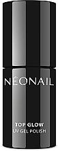 Parfumuri și produse cosmetice Top coat pentru gel-lac - NeoNail Professional UV Gel Polish Top Glow Sparkling