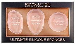 Parfumuri și produse cosmetice Set burete din silicon pentru machiaj - Makeup Revolution Ultimate Silicone Sponge Set