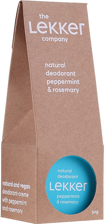 Deodorant cu mentă și rozmarin - The Lekker Company Natural Deodorant
