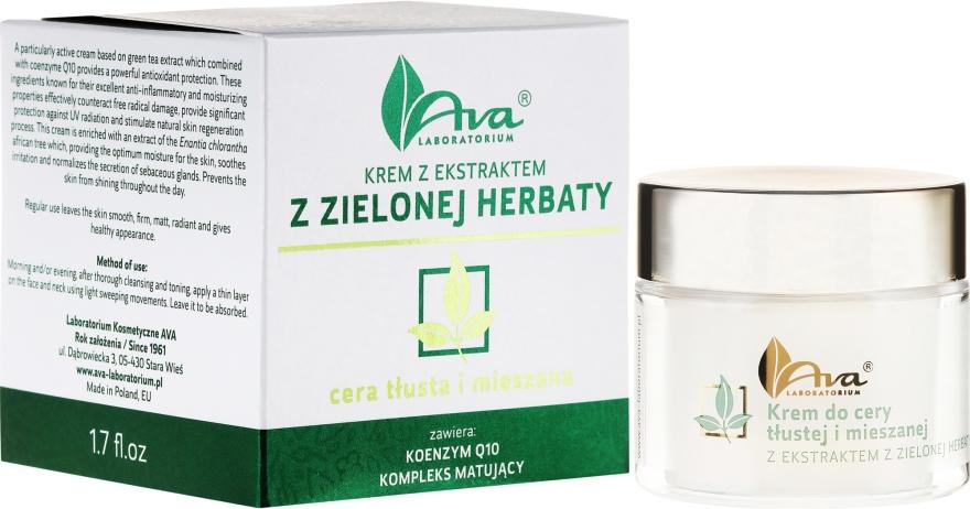Cremă cu extract de ceai verde - Ava Laboratorium Green Tea Cream For Oily To Combination Skin — Imagine N1