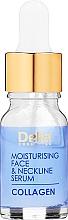 Parfumuri și produse cosmetice Ser hidratant pentru față și decolteu - Delia Collagen Intensive Anti-Wrinkle and Moisturising Treatment Serum