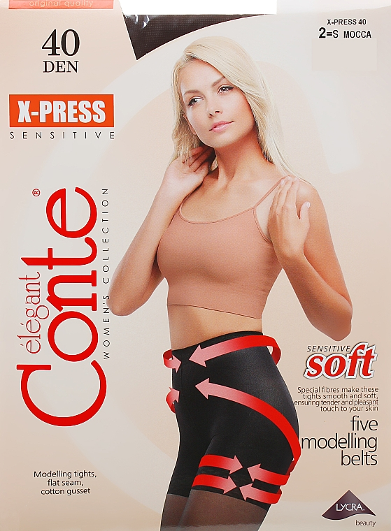 "Колготки ""X-press"" 40 Den, mocca - Conte — фото N1"