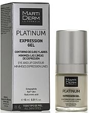 Parfumuri și produse cosmetice Gel pentru zona ochilor și buzelor - MartiDerm Platinum Expression Gel