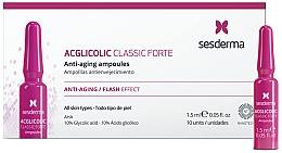 Духи, Парфюмерия, косметика Fiole anti-îmbătrânire cu acid glicolic - SesDerma Laboratories Acglicolic Classic Forte Anti-Aging Ampoules