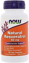 Parfumuri și produse cosmetice Resveratrol Natural, Antioxidant 50 mg - Now Foods Natural Resveratrol