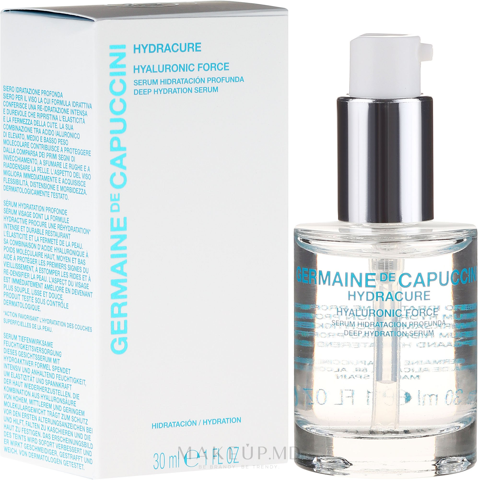 Ser facial - Germaine de Capuccini HydraCure Hyaluronic Force Deep Hydration Serum — Imagine 30 ml