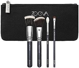 Parfumuri și produse cosmetice Set pensule pentru machiaj - Zoeva Bon Voyage Set (4/brushes+bag)