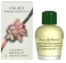 Parfumuri și produse cosmetice Frais Monde White Cedar And Musk Perfumed Oil - Ulei parfumat