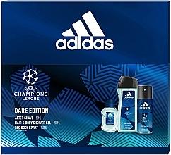 Parfumuri și produse cosmetice Adidas UEFA Dare Edition - Set (sh/gel/250ml + deo/spray/150ml + a/sh/lot/50ml)