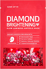 Parfumuri și produse cosmetice Mască pe bază de pulbere de diamant - Some By Mi Diamond Brightening Calming Glow Luminous Ampoule Mask