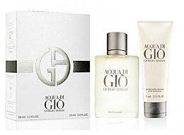 Parfumuri și produse cosmetice Giorgio Armani Acqua di Gio Pour Homme - Set (edt/50ml + a/sh/balm/75ml)