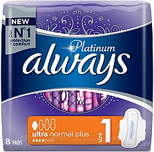 Parfumuri și produse cosmetice Absorbante, 8 bucăți - Always Platinum Ultra Normal Plus