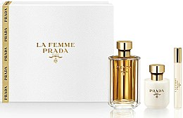 Parfumuri și produse cosmetice Prada La Femme Prada - Set (edp/100ml + b/lot/100ml + edp/roll/10ml)