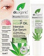 Parfumuri și produse cosmetice Ser pentru zona din jurul ochilor - Dr. Organic Bioactive Skincare Hemp Oil Intensive Eye Serum