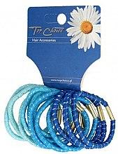 Parfumuri și produse cosmetice Set de elastice multicolore pentru păr, 21305 - Top Choice