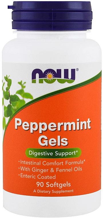 Mentă, capsule - Now Foods Peppermint Gels