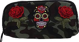 """Parfumuri și produse cosmetice Trusă cosmetică """"Camouflage"""", 95856, trandafiri și craniu - Top Choice"""