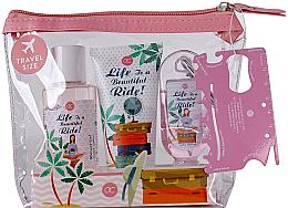 Parfumuri și produse cosmetice Set - Accentra Spring Time Body Care Travel Set (Sh/gel/100ml + h/cr/60ml + Cl/gel/30ml + bag)