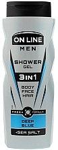 Parfumuri și produse cosmetice Gel de duș 3in1 - On Line Men 3in1 Deep Blue