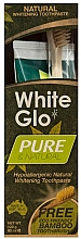 Parfumuri și produse cosmetice Set pentru îngrijirea dinților - White Glo Pure & Natural (t/paste/85ml + t/brush/1)