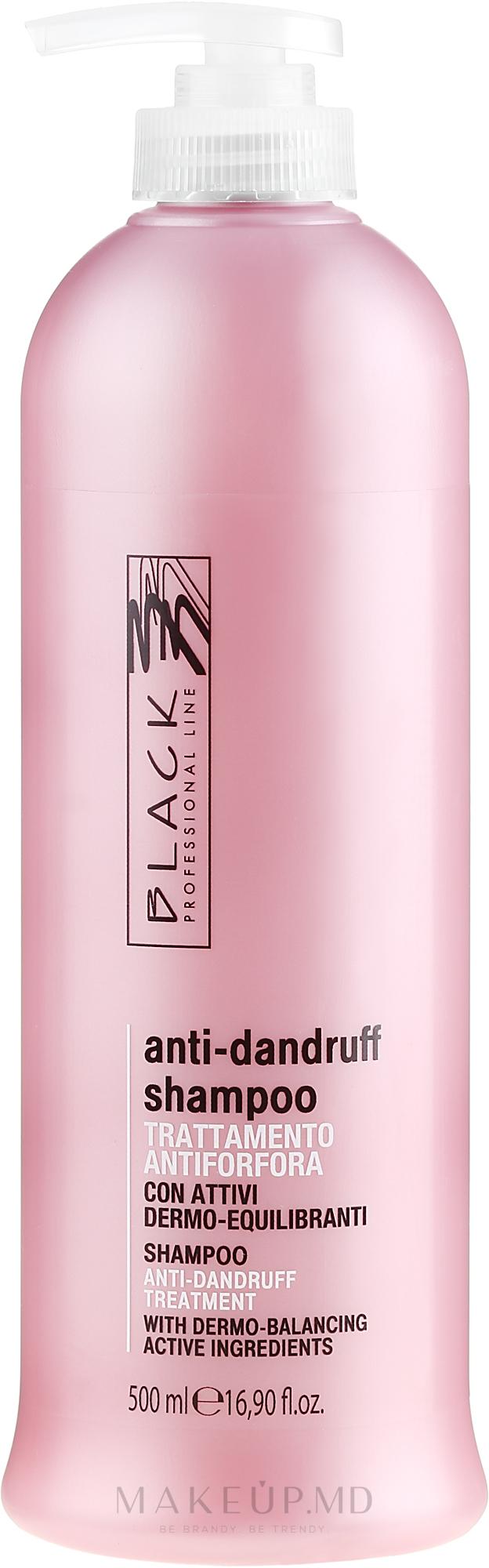 Șampon împotriva mătreții - Black Professional Line Anti-Dandruff Shampoo — Imagine 500 ml