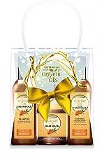 Parfumuri și produse cosmetice Set - GlySkinCare Organic Seaberry Oil (h/mask/300ml + shmp/250ml + h/cond/250ml)