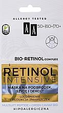 Parfumuri și produse cosmetice Mască de întinerire pentru bărbie, gât și decolteu - AA Retinol Intensive Bio-Retinol Complex 50+ 60+ 70+ Mask