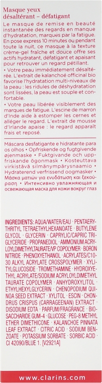 Masca pentru contur de ochi - Clarins Hydra-Essentiel Moisturizing Reviving Eye Mask — Imagine N3