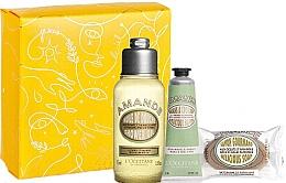 Parfumuri și produse cosmetice Set - L'Occitane Almond (sh/oil/75ml + h/cr/30ml + soap/50g + box)