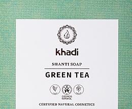 Parfumuri și produse cosmetice Săpun natural cu ceai verde și mentă - Khadi Green Tea Shanti Soap