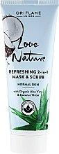 Parfumuri și produse cosmetice Mască-scrub 2în1 - Oriflame Love Nature Refreshing 2in1 Mask&Scrub