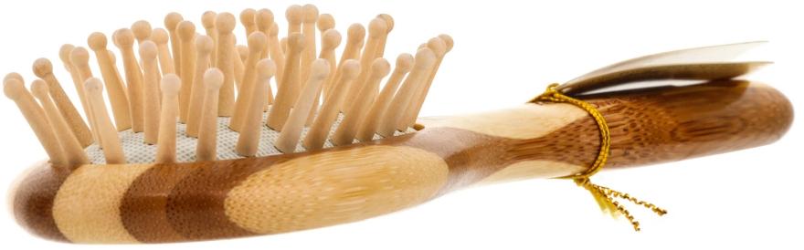 Perie de păr - Olivia Garden Healthy Hair Small Oval Ionic Massage Brush — Imagine N2
