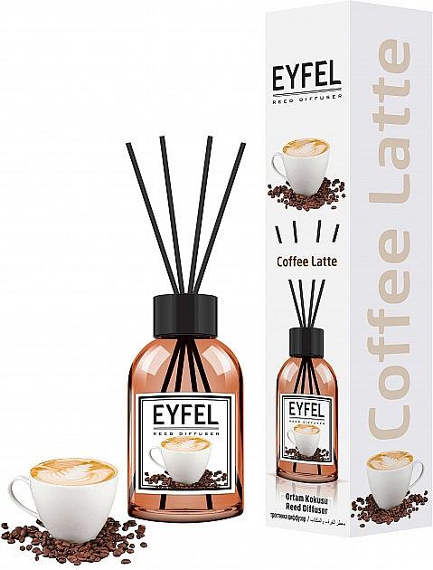 """Difuzor aromatic """"Cafea"""" - Eyfel Perfume Reed Diffuser Coffee"""