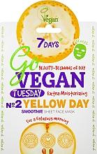 "Parfumuri și produse cosmetice Mască de față ""Nr.2 Yellow Day"" - 7 Days Go Vegan Tuesday Yellow Day"