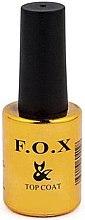 Parfumuri și produse cosmetice Top coat pentru oja semipermanentă, mat - F.O.X Top Matte Velour