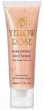 Духи, Парфюмерия, косметика Scrub cu acid hialuronic și extracte de flori - Yellow Rose Hyaluronic Face Scrub